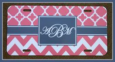 License Plate Car Tag Personalized Monogrammed Car by ChicMonogram