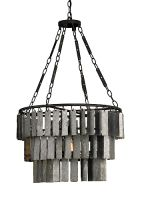 Industrial Layered Metal Chandelier - Detailed item view - Chandeliers, Mirrors, Lighting and Furniture