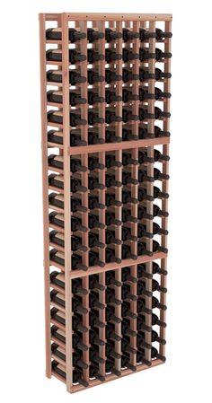 Handmade Wooden 4 Column 72 Bottle Standard Wine Cellar Kit in Premium Redwood. 13 Stain Combinations to Choose From! Wine Cellar Racks, Wine Cellars, Wine Racks America, Wine Bottle Storage, Column Design, Wine Case, Led, Handmade Wooden, Lead Time