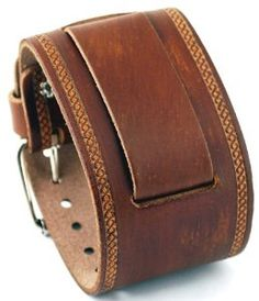 The overlapping style could cover circuits well. Nemesis #IN-BS Wide Brown Leather Cuff Wrist Watch Band by Nemesis - Price: $39.95