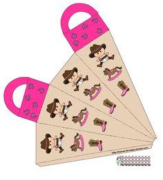 Kit Vaquero en Rosa para Baby Shower, para Imprimir Gratis.