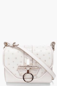 http://rstyle.me/hhufukbtd  GIVENCHY Ivory Ostrich Obsedia Bag