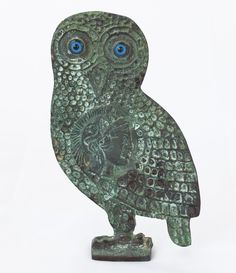 Bronze owl sculpture Blue eyed with patina finish bronze greek statue ancient greek art table statue Ceramic Wall Art, Ancient Greek Sculpture, Ceramic Art, Bronze Sculpture, Sculptures, Ancient, Greek Statues, Art
