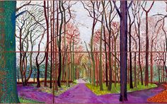 David Hockney 'Woldgate Woods' His vision.........................Anix