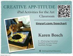 Creative APP-titude - iPad Activities for the Art Classroom
