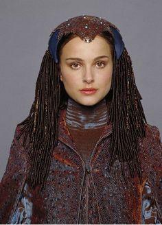 Senator Padmé Amidala's Peacock Gown costume, designed by Trisha Biggar in StarWars Episode III: Revenge of the Sith