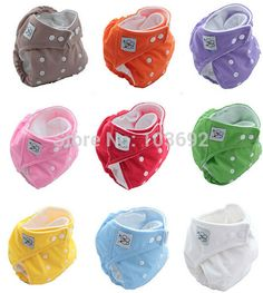 2 PCS diapers +10 PCS liners Adjustable cloth diaper inserts Waterproof Reusable diapersThick Winter Baby Nappy Diapers 9 Colors