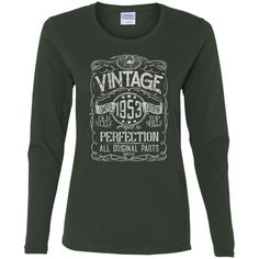 Vintage Aged To Perfection 1953 - 65th Birthday Gift T-shirt