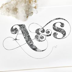 Intricate monogram by Types Of Lettering, Lettering Design, Creative Lettering, Mandala Design, Mandala Art, Hand Fonts, Hand Type, Calligraphy Art, Custom Paint