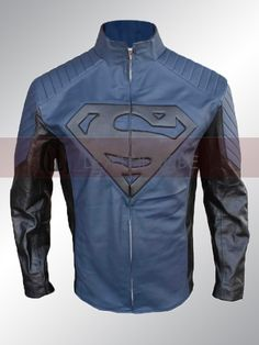 Superman Smallville Blue and Black Cosplay Jacket in discounted price with Free Shipping from leatherobe.com  Check this Out !!