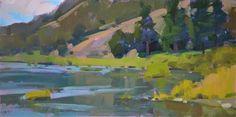 """Daily+Paintworks+-+""""Umpqua+River""""+-+Original+Fine+Art+for+Sale+-+©+Carol+Marine"""