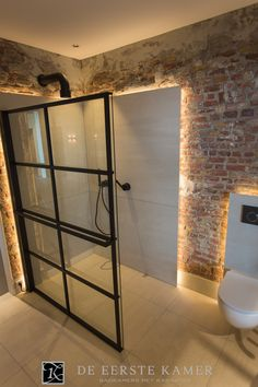 How to Finish Your Basement and Basement Remodeling – House Remodel HQ Washroom Design, Bathroom Design Luxury, Bathroom Design Small, Bathroom Concrete Floor, Brick Bathroom, Industrial Interior Design, Home Interior Design, Grand Designs Houses, Tadelakt