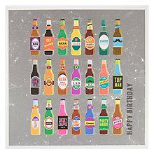 Buy Woodmansterne 21 Bottles Of Beer Birthday Card Online at johnlewis.com