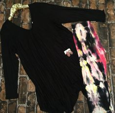 Black flowy tunic Tie Dye Skirt, Black Tops, Tunic, Skirts, Fashion, Moda, Tunics, Fashion Styles, Skirt