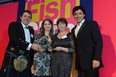 Frankie's pick up 2nd place trophy at 2014 National Fish and Chip Awards!