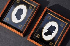 Antique George and Martha Washington Silhouettes by FabsAndFaves