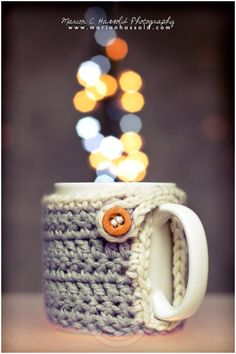 "Pattern ""Marion's cozy mug warmer"" 