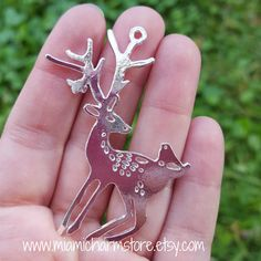 5 pieces Deer Pendant, Silver Toned, elk pendant, deer charm, deer jewelry, winter jewelry, winter decorations, jewelry diy, diy jewelry by MiamiCharmStore on Etsy