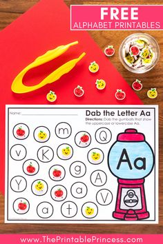 Bingo daubers help with hand-eye coordination, fine motor skills and more. With this FREE 26 page resource, they also help with letter recognition. Perfect for preschool, pre-k, and kindergarten. Just print, grab some bingo daubers, and you're ready to go! #teachertips #kindergarten #bingodabberactivities #kindergartenclassroom #kindergartenmath #kindergartenliteracy