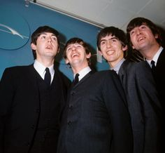 7th February 1964. The Beatles before the JFK Airport press conference