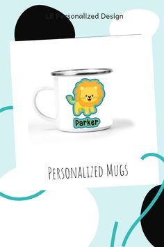 Super fun small metal mugs are perfect for kid sized hands! Can hold a cup of milk, water, cocoa, or any other drink. Also great to hold a snack like cereal or even ice cream! Lots of fun designs available including this adorable personalized lion graphic! Kindergarten Graduation Gift, Pre K Graduation, Kindergarten Gifts, Preschool Gifts, Personalized Puzzles, Personalized Mugs, Puzzles For Kids, Activities For Kids, Volleyball Gifts