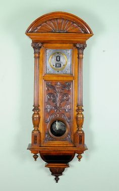 ANTIQUE DIGITAL VIENNA WALL CLOCK  c. 1890 Germany