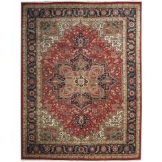 New Contemporary Persian Heriz Area Rug 56743 - Area Rug area rug