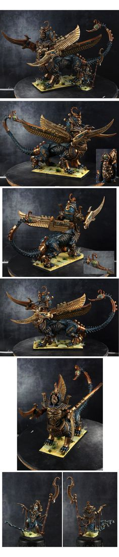Necrosphynx with Tomb King Warhammer Fantasy