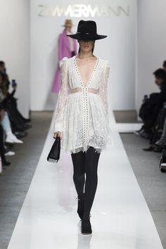 Deep v white dress zimmerman