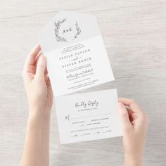 Minimal Leaf | Dark Gray Wedding Seal and Send Invite. Click to customize with your personalized details today. Tri Fold Wedding Invitations, Custom Invitations, Wedding Stationery, White Pumpkins Wedding, Pumpkin Wedding, Dark Grey Weddings, Modern Minimalist Wedding, Botanical Wedding, Wedding Calligraphy
