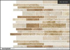 honed travertine backsplash tile. This would be pretty accent tile with beige subway tiles. Simple and pretty but might be too modern.