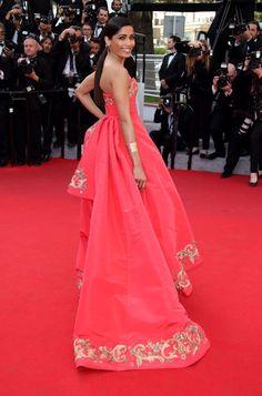 The absolute best of Cannes red carpet fashion: Freida Pinto in Oscar de la Renta in 2014.