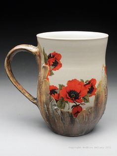 Luba Sharapan Floral Mug (looks as if it has a fine rim and useful handle)