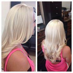 platinum blonde hair! #platinum #blonde curls:
