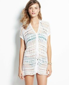Open stitch swimsuit cover up - 40%off