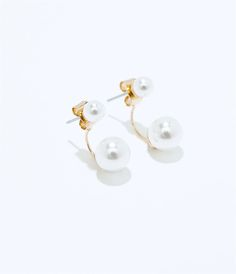 Image 3 of TWO SIZE PEARL EARRING from Zara