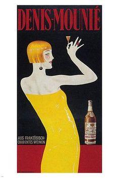 Denis-Mounié VINTAGE AD POSTER Austria 1931 Aperitif 24X36 Rare COLLECTORS