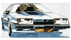 OG |1981 Opel Ascona C / Vauxhall Cavalier Mk2 | Design sketch | © © GM Media Archives