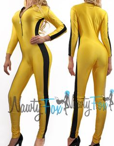 Yellow Kill Bill Bruce Lee Game of Death Jumpsuit Bodysuit Unitard Costume s 3XL | eBay