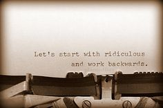 Stranger than Fiction Photo art greeting card - movie quote, typewriter, sepia, encouraging, art card, hope, funny, start from ridiculous