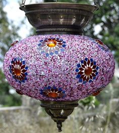 Mosaic Lamp Shade ML MLS Pink 2 Moroccan Lighting, Moroccan Lamp, Moroccan Lanterns, Stained Glass Chandelier, Japanese Tea Set, Turkish Lamps, All Things Purple, Glass Candle, Oil Lamps