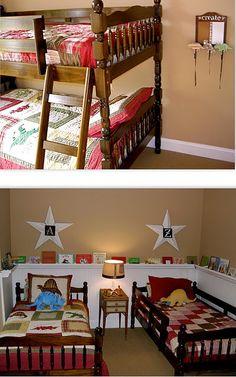 rain gutter bookshelf for girls room