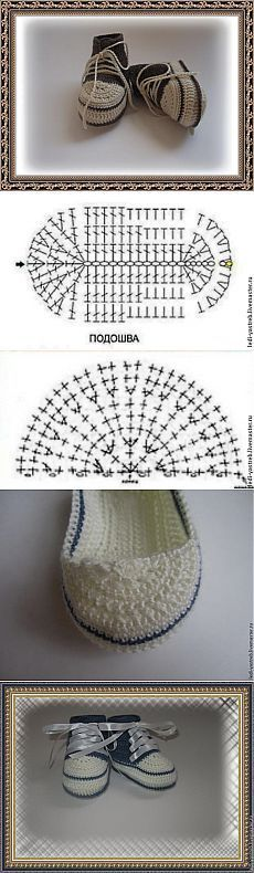 Вяжем пинетки-кеды - Ярмарка Мастеров - ручная работа, handmade [] #<br/> # #Crocheted #Slippers,<br/> # #Crochet #Shoes,<br/> # #Baby #Booties,<br/> # #Baby #Shoes,<br/> # #Crochet #Patterns,<br/> # #Kapcie,<br/> # #Slippers,<br/> # #Hats,<br/> # #Dolls<br/>