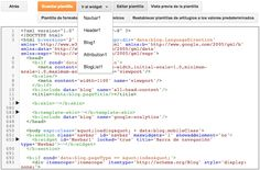 El nuevo diseño en la Edición HTML de Blogger | Ciudad Blogger - Trucos y tutoriales para tu blog