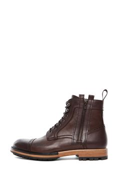 460c73eb98 Lanvin|Lace Up Boots in Dark Brown White Boots, Lace Up Boots, Shiny