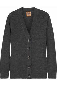 Tory Burch Simone merino wool cardigan | THE OUTNET Discount Designer Clothes, Wool Cardigan, Clothes For Sale, Merino Wool, High Fashion, Tory Burch, Sweaters, Shopping, Tops