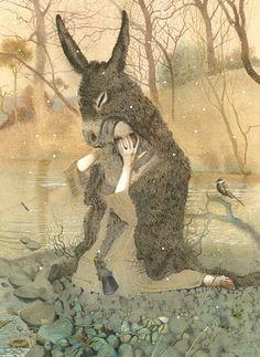 Nadezhda Illarionova's Dark Fairy Tales: Nadezhda-Illarionova-01.jpg - http://www.juxtapoz.com/illustration/nadezhda-illarionovas-dark-fairy-tales