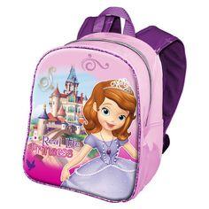 Mochila Com Carrinho Escolar Princesa Sofia Disney 2019*