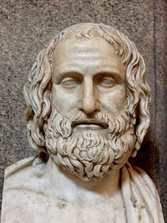 Euripides - ancient Greek playwright was one of the three great tragedians of classical Athens, the other two being Aeschylus and Sophocles. Some ancient scholars attributed nin. Classical Athens, Classical Period, Greek History, Art History, Ancient Art, Ancient History, Greek Tragedy, Greek Culture, Writers And Poets