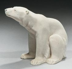 Ours en céramique Art Sculpture, Stone Sculpture, Animal Sculptures, Ceramic Animals, Clay Animals, Ceramic Art, Pottery Studio, Pottery Art, Art D'ours